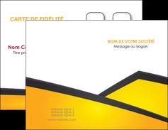 modele carte de visite jaune fond jaune colore MIF58289