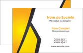 modele carte de visite jaune fond jaune colore MLIP58291