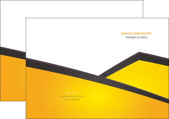 imprimer pochette a rabat jaune fond jaune colore MLGI58293