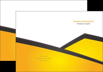 impression pochette a rabat jaune fond jaune colore MLGI58295