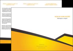 cree depliant 3 volets  6 pages  jaune fond jaune colore MLIG58307