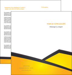 faire depliant 2 volets  4 pages  jaune fond jaune colore MIF58309