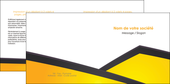 creation graphique en ligne depliant 2 volets  4 pages  jaune fond jaune colore MLIG58311
