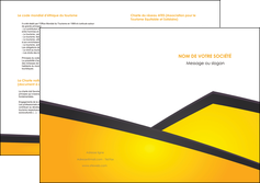 modele en ligne depliant 2 volets  4 pages  jaune fond jaune colore MIF58321