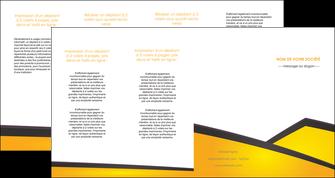 modele depliant 4 volets  8 pages  jaune fond jaune colore MLGI58327