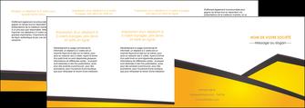 imprimer depliant 4 volets  8 pages  jaune fond jaune colore MLIG58329