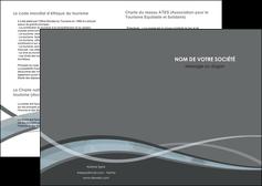 personnaliser modele de depliant 2 volets  4 pages  gris fond gris vecteur MIF58347