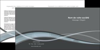 personnaliser modele de depliant 2 volets  4 pages  gris fond gris vecteur MIF58371