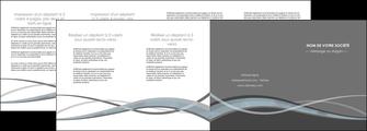 creer modele en ligne depliant 4 volets  8 pages  gris fond gris vecteur MLGI58385