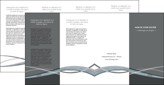 cree depliant 4 volets  8 pages  gris fond gris vecteur MIF58389