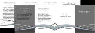 faire depliant 4 volets  8 pages  gris fond gris vecteur MIF58391