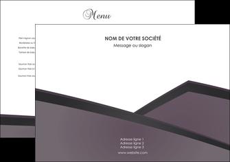 personnaliser maquette set de table violet noir courbes MIF58393