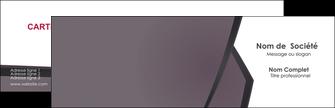 personnaliser maquette carte de visite violet noir courbes MIF58401