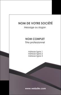personnaliser modele de carte de visite violet noir courbes MIF58403