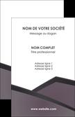 personnaliser modele de carte de visite violet noir courbes MLGI58403