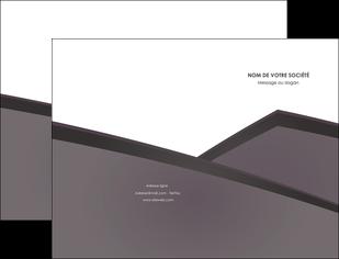 cree pochette a rabat violet noir courbes MIF58405