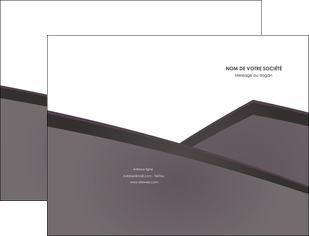cree pochette a rabat violet noir courbes MLGI58405