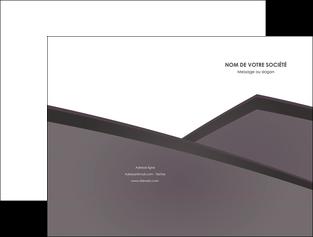 maquette en ligne a personnaliser pochette a rabat violet noir courbes MIF58407