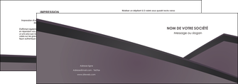 modele en ligne depliant 2 volets  4 pages  violet noir courbes MIF58409