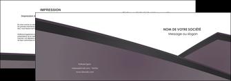 imprimerie depliant 2 volets  4 pages  violet noir courbes MIF58411