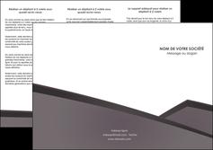 faire depliant 3 volets  6 pages  violet noir courbes MIF58419