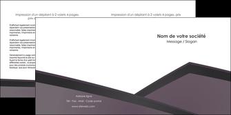 imprimer depliant 2 volets  4 pages  violet noir courbes MIF58423
