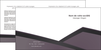 imprimer depliant 2 volets  4 pages  violet noir courbes MLGI58423