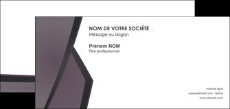 imprimerie carte de correspondance violet noir courbes MIF58431