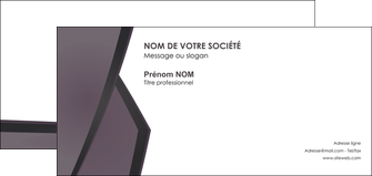 imprimerie carte de correspondance violet noir courbes MLGI58431