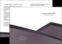 modele depliant 2 volets  4 pages  violet noir courbes MIF58433