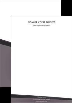maquette en ligne a personnaliser affiche violet noir courbes MIF58435