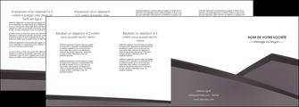 modele depliant 4 volets  8 pages  violet noir courbes MIF58437