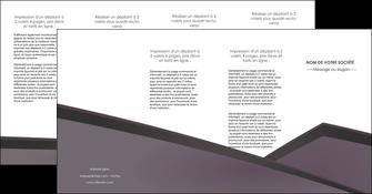 creer modele en ligne depliant 4 volets  8 pages  violet noir courbes MIF58441