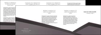 impression depliant 4 volets  8 pages  violet noir courbes MIF58443