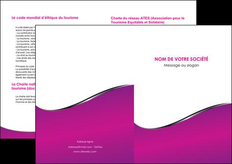 modele en ligne depliant 2 volets  4 pages  violet fond violet colore MLGI58635
