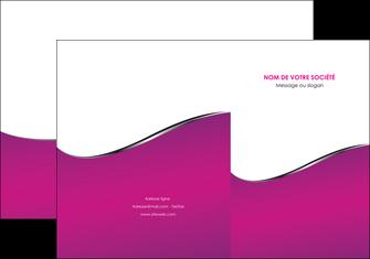 imprimer pochette a rabat violet fond violet colore MIF58643