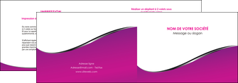 personnaliser maquette depliant 2 volets  4 pages  violet fond violet colore MLGI58645