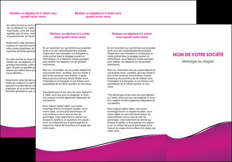 modele depliant 3 volets  6 pages  violet fond violet colore MLGI58655