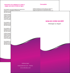 personnaliser modele de depliant 2 volets  4 pages  violet fond violet colore MLGI58657