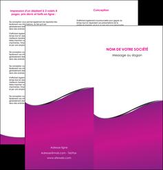 personnaliser modele de depliant 2 volets  4 pages  violet fond violet colore MLIG58657