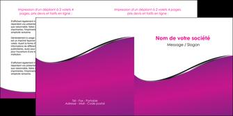 imprimer depliant 2 volets  4 pages  violet fond violet colore MIF58659