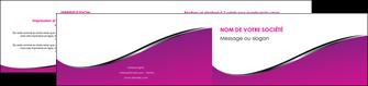 impression depliant 2 volets  4 pages  violet fond violet colore MLIG58665