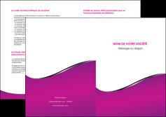 imprimer depliant 2 volets  4 pages  violet fond violet colore MIF58669