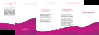 faire modele a imprimer depliant 4 volets  8 pages  violet fond violet colore MLGI58671