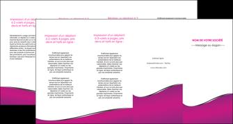 cree depliant 4 volets  8 pages  violet fond violet colore MLGI58675