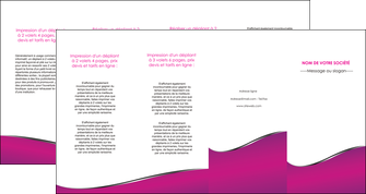 cree depliant 4 volets  8 pages  violet fond violet colore MLIG58675