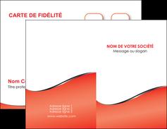 modele en ligne carte de visite rouge rouille colore MLIG58699