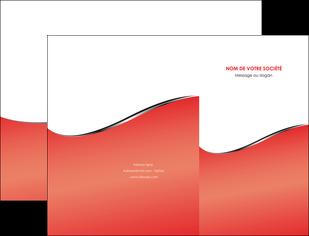 personnaliser maquette pochette a rabat rouge rouille colore MLIG58701
