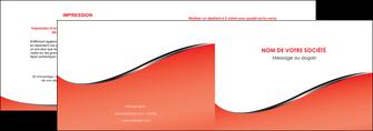 personnaliser modele de depliant 2 volets  4 pages  rouge rouille colore MLIG58705