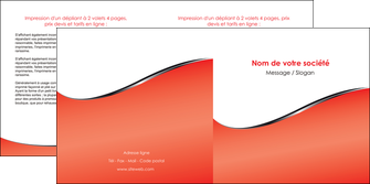 exemple depliant 2 volets  4 pages  rouge rouille colore MLIG58719